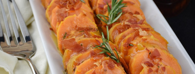 Instant Pot Maple Orange and Proscuitto Sweet Potatoes