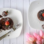 Grain Free Dark Chocolate Lava Cake for 2