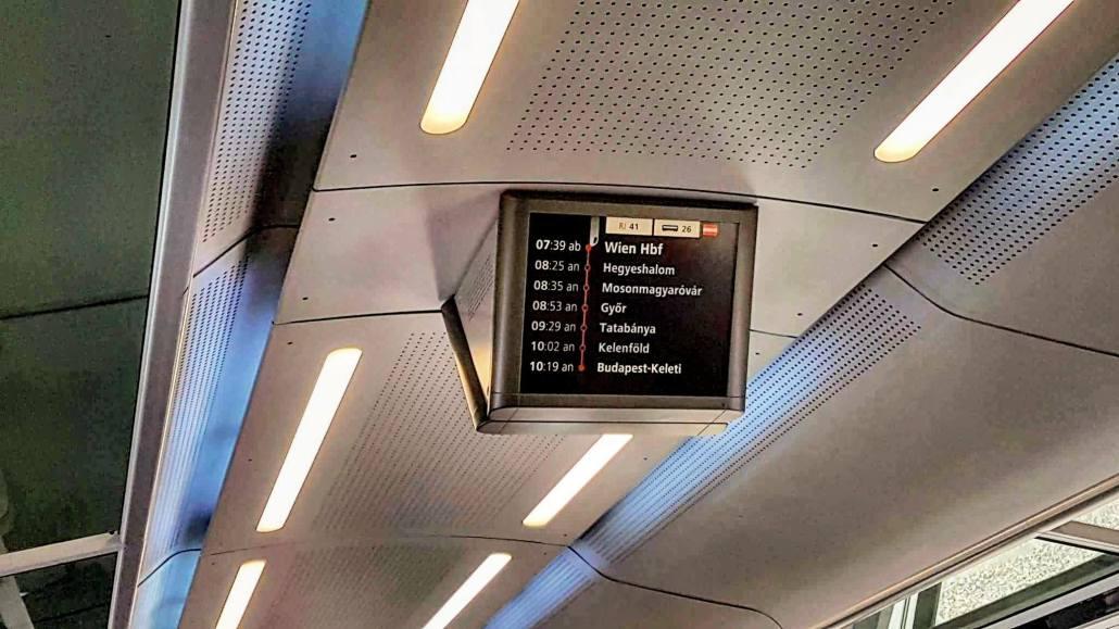 Viagens de Trem pela Europa - Painel