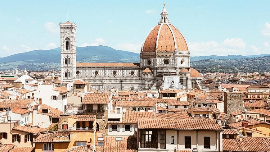 Hotéis em Florença - Vista do Terraço do Hotel Cavour