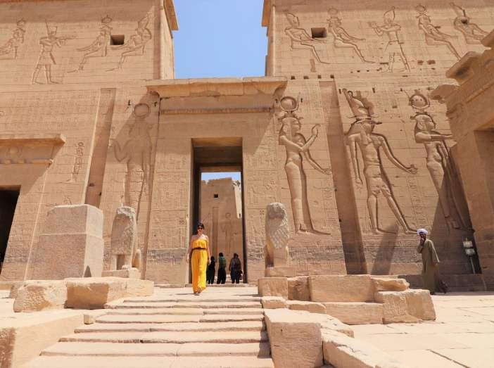 Mitologia Egípcia - Entrada do Templo de Philae