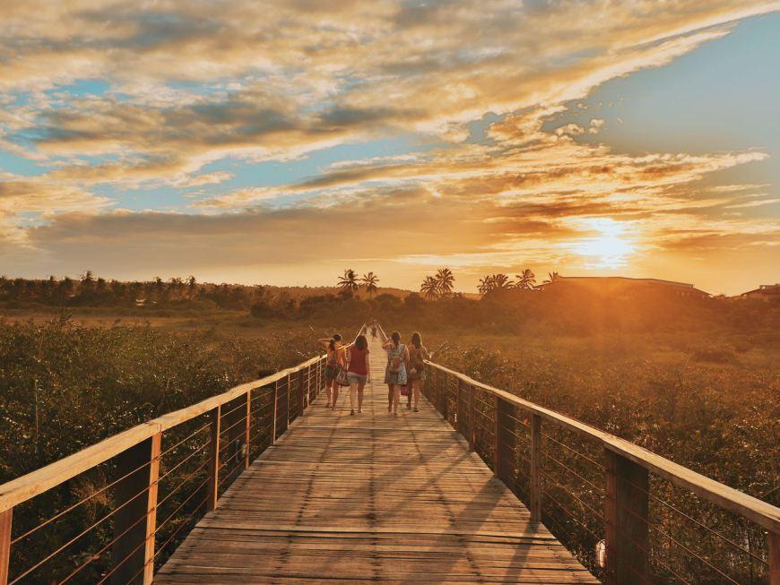 Viagem com Amigos - por do sol