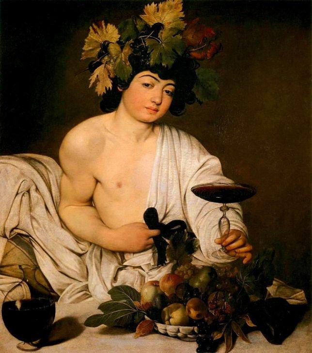 Baco, el Dios del vino, de Caravaggio