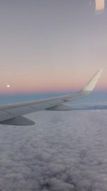 Lua e horizonte visto do avião