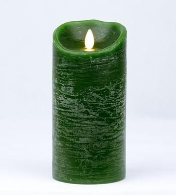【Luminara 盧米娜拉 擬真火焰 蠟燭】綠意盎然薄荷香氛水紋蠟燭禮盒(大)/66035 +加贈充電電池組
