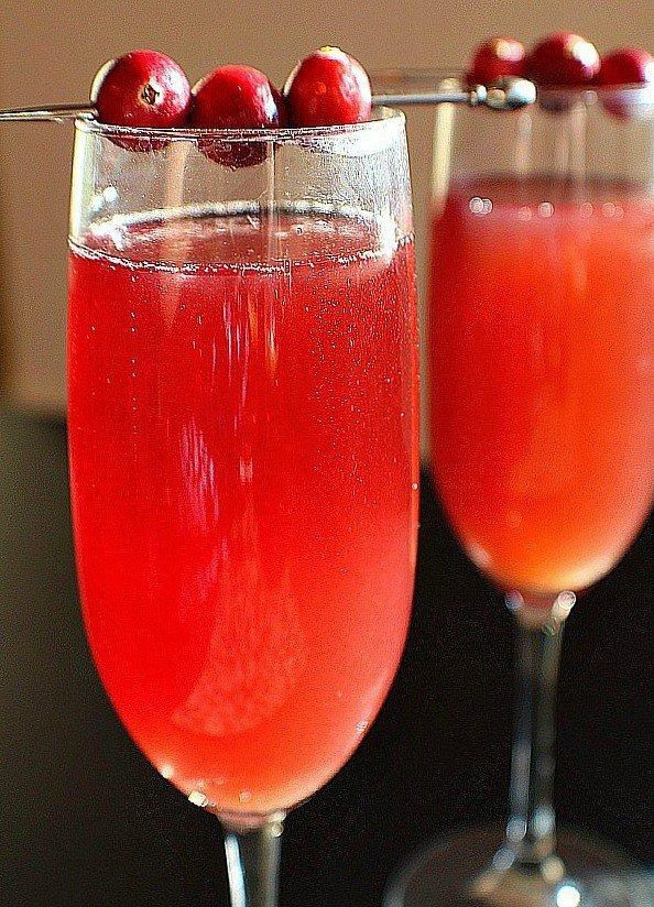 Cranberry Apple Cider Mimosas