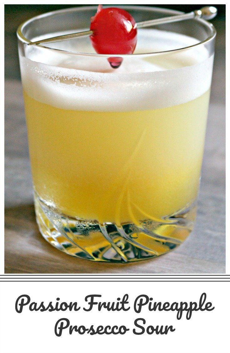 A light and fruity prosecco cocktail made with pineapple and passion fruit, topped with a fluffy egg foam, the official cocktail of summer 2018!