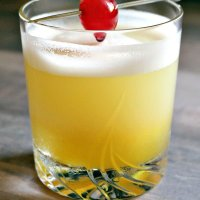Passion Fruit Pineapple Prosecco Sour