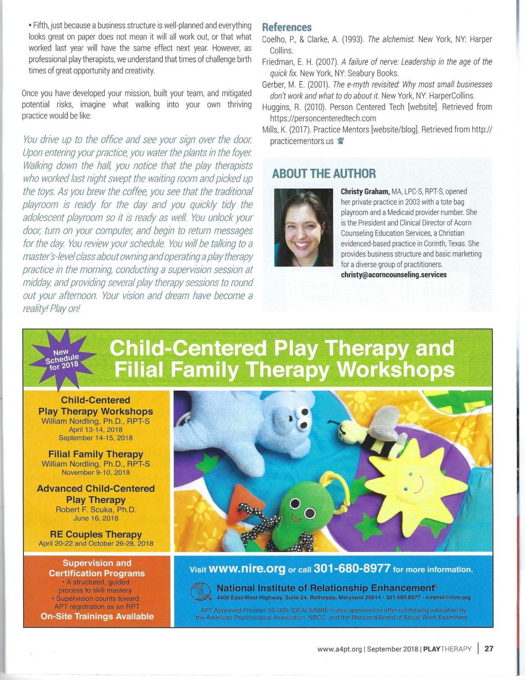 Developing the Dream: Play Therapy in Private Practice