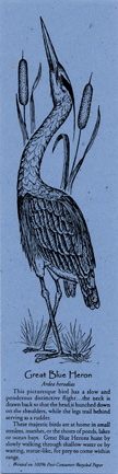 Great Blue Heron Bookmark