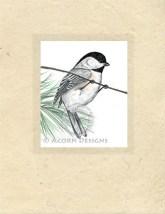 Black-capped Chickadee Lokta Card