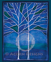 Blue Dusk Lokta Card