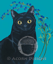 Black Cat Lokta Card