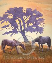 Horses Lokta Card