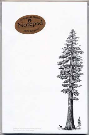 Redwood Tree Notepad
