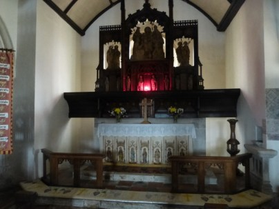 Breage: the massive (over-large) reredos