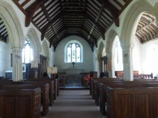 Gunwalloe: the nave