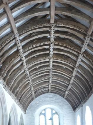 Gunwalloe: south aisle roof