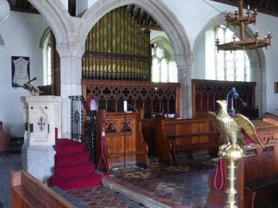 Lanivet: the chancel steps
