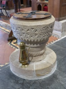 Mevagissey: the Norman font