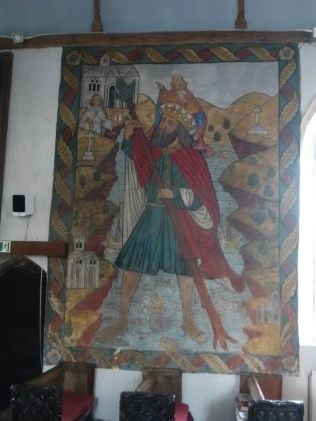 Poughill: St Christopher wall painting