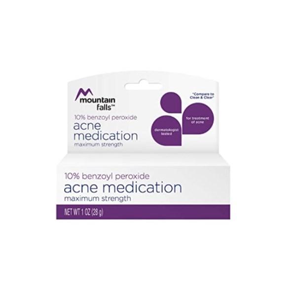 Mountain Falls 10% Benzoyl Peroxide Acne Medication, Maximum Strength 28g/1oz