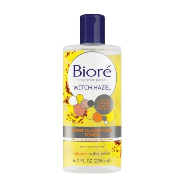 Biore Witch Hazel Pore Clarifying Toner with Salicylic Acid Acne Treatment 8oz./236ml.