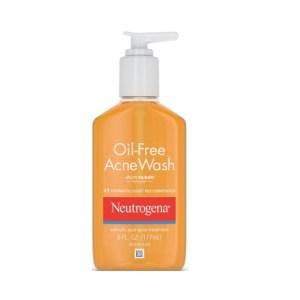 Neutrogena Oil-Free Salicylic Acid Acne Fighting Face Wash (Glycerin) 6 fl.oz/177ml
