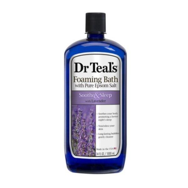 Dr Teal's Foaming Bath Soothe & Sleep with Lavander 34 fl.oz/1000ml
