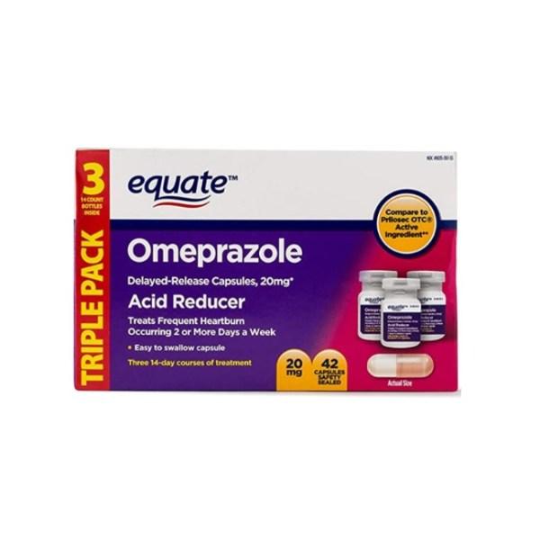 Equate Acid Reducer Esomeprazole Magnesium Delayed-Release Caps, 20mg, 42 Ct