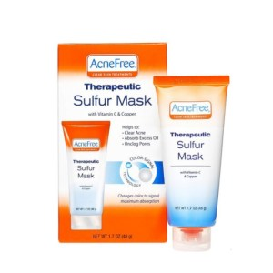 AcneFree Therapeutic Sulfur Mask with Vitamin C & Copper 1.7 oz./48g.