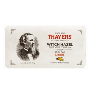 Thayers Body Bar Soap with Witch Hazel and Aloe Vera Citrus 5 oz./141.75g