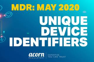 Unique Device Identifiers MDR Acorn Regulatory