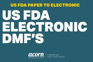 US FDA Electronic paper based dmf