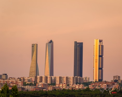 'The Four Towers', as they're usually referred to by those of us who live in Madrid, seen from one of Spain's busiest interprovincial highways.