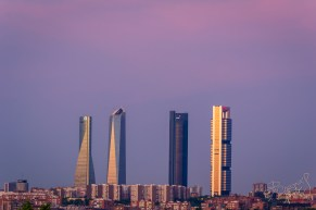 The impressive view of these buildings can be enjoyed from many locations when you're out and about in Madrid.