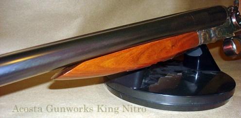 King Nitro shotgun after restoration. Barrels were slow-rust blued.