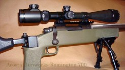 Remington 700 rifle was built on a blueprinted Remington 700 short action.