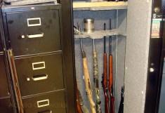 Gun safe.