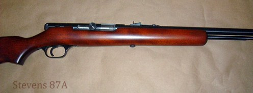 Stevens 87A Rifle after repair and rebluing.