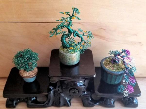 Medium Miniature Wire Bonsai Trees