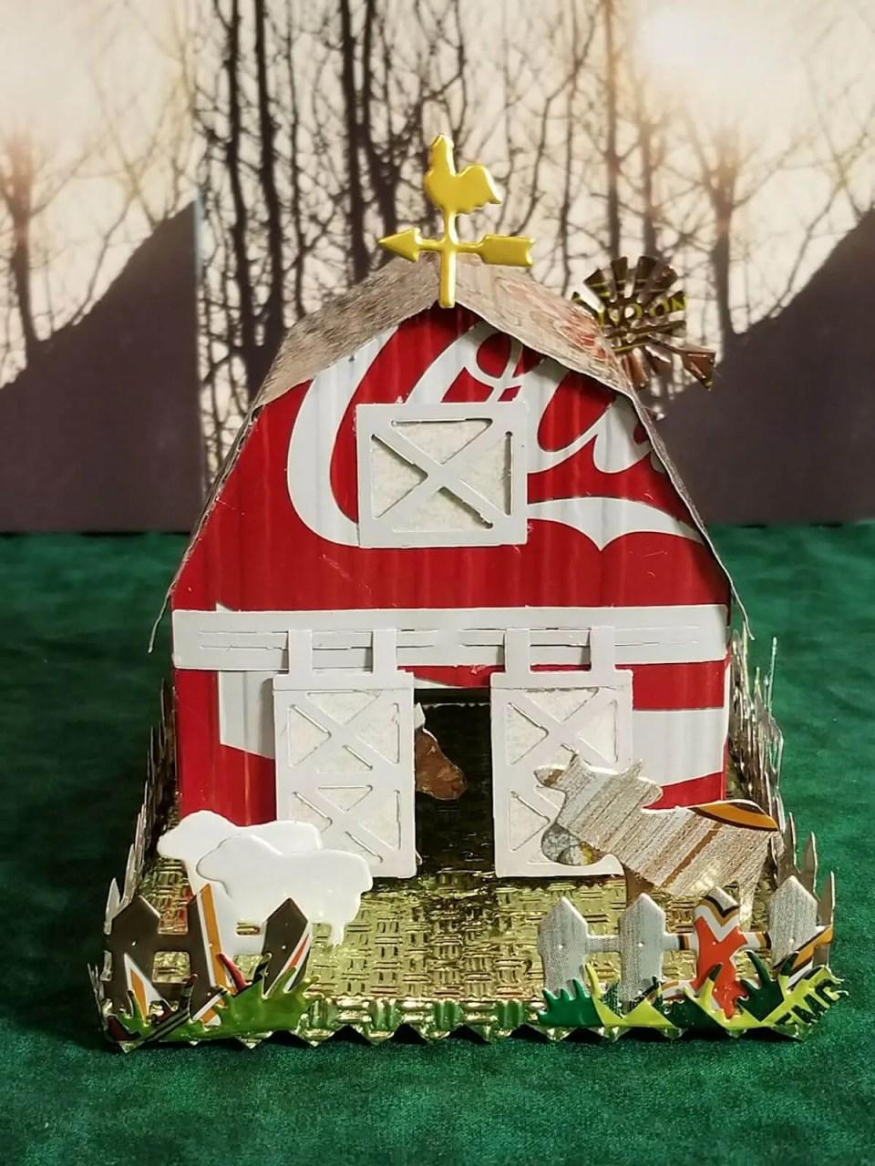 Barn #1 aluminum can house