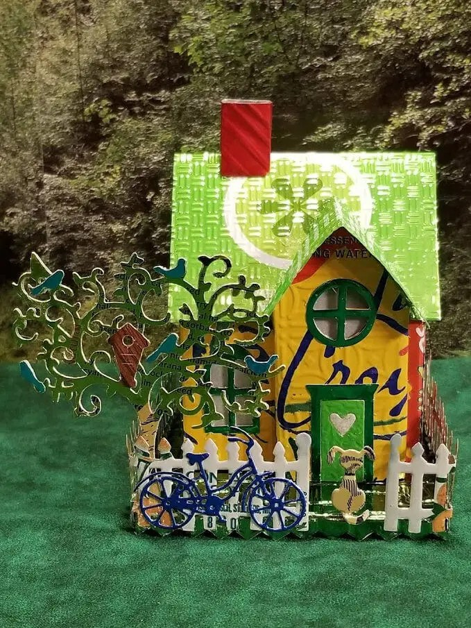 Country Cottage #4 aluminum can house