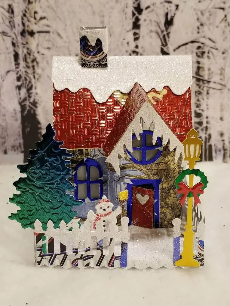 Winter Country Cottage #2 aluminum can house