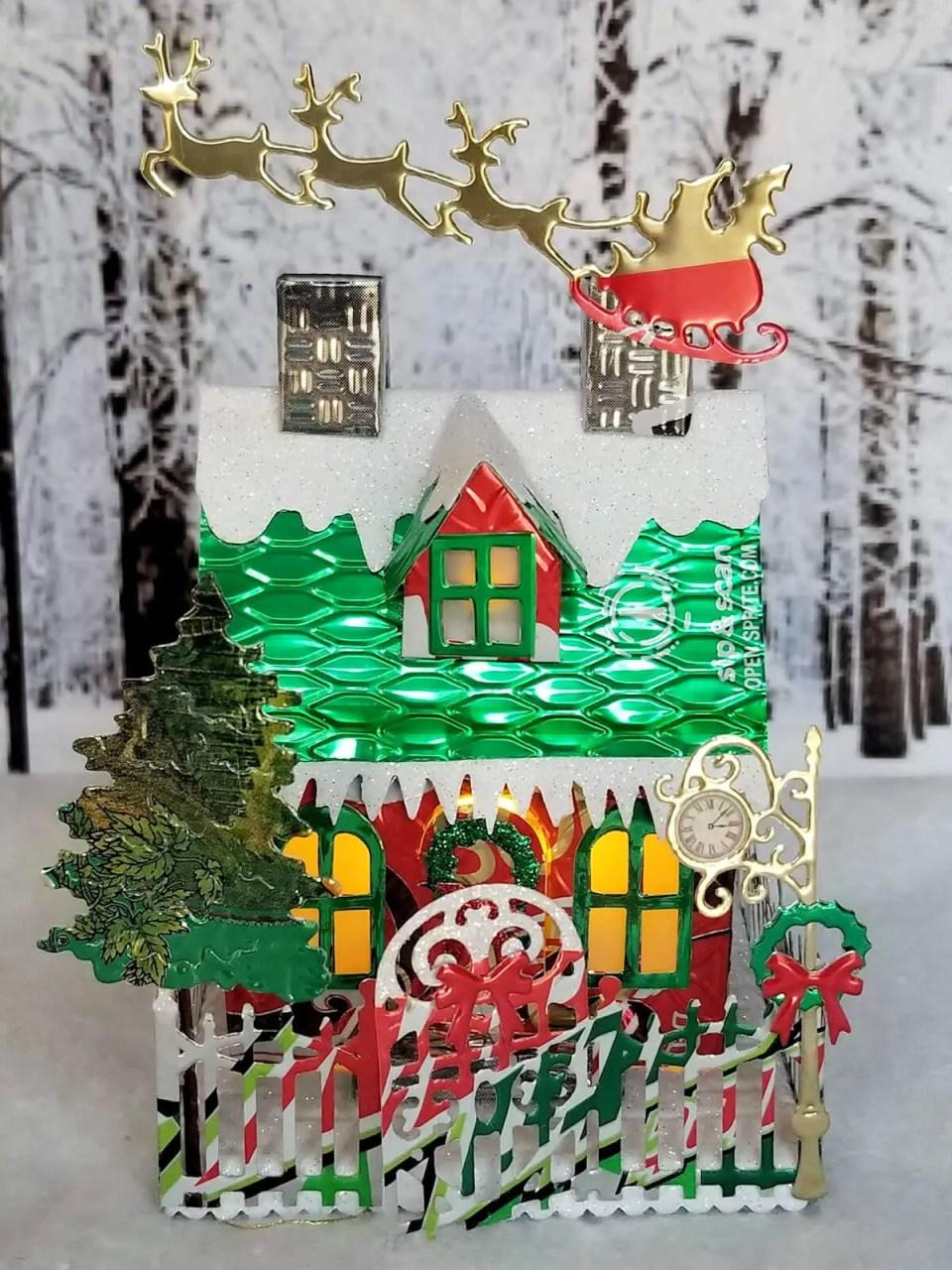 Winter Georgian House #5 aluminum can house