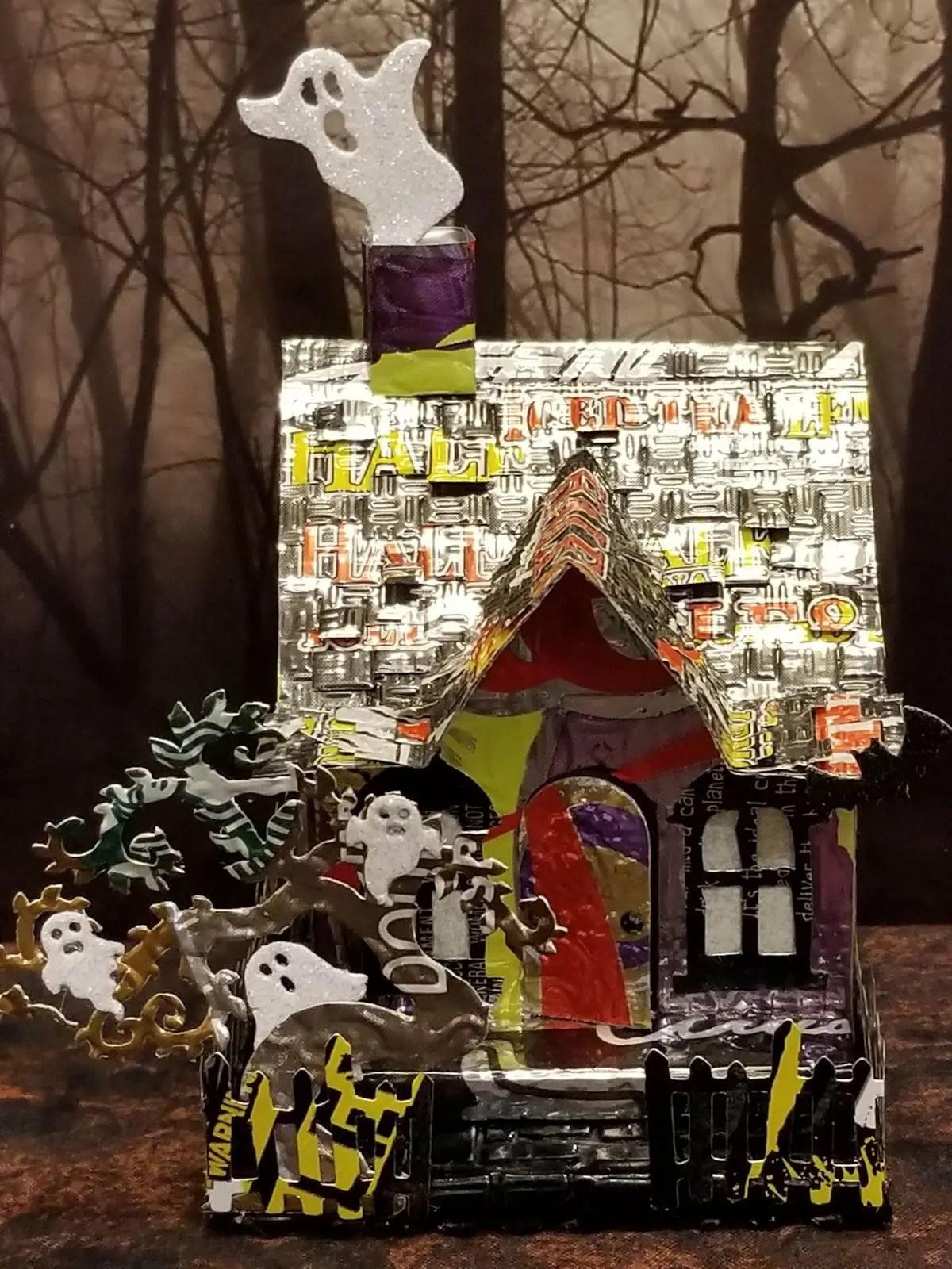 Halloween House #2 aluminum can house