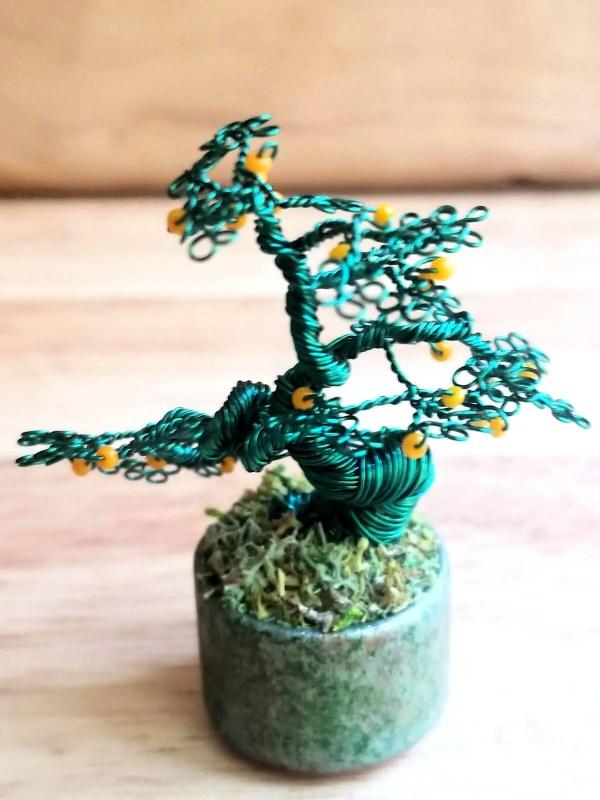 Miniature Wire Bonsai Tree M13 image 3 of 5
