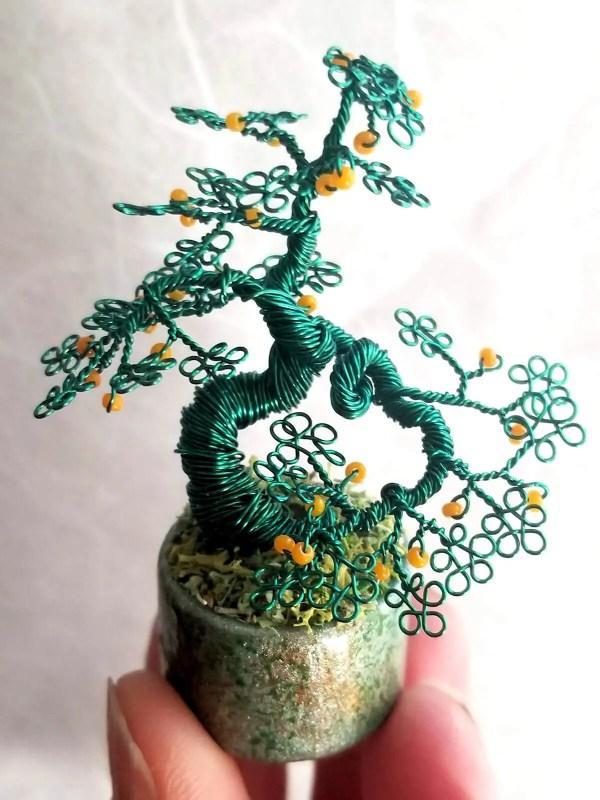 Miniature Wire Bonsai Tree M13 image 2 of 5