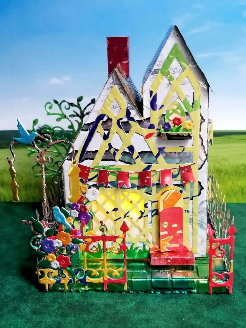Tudor Cottage #2 aluminum can house