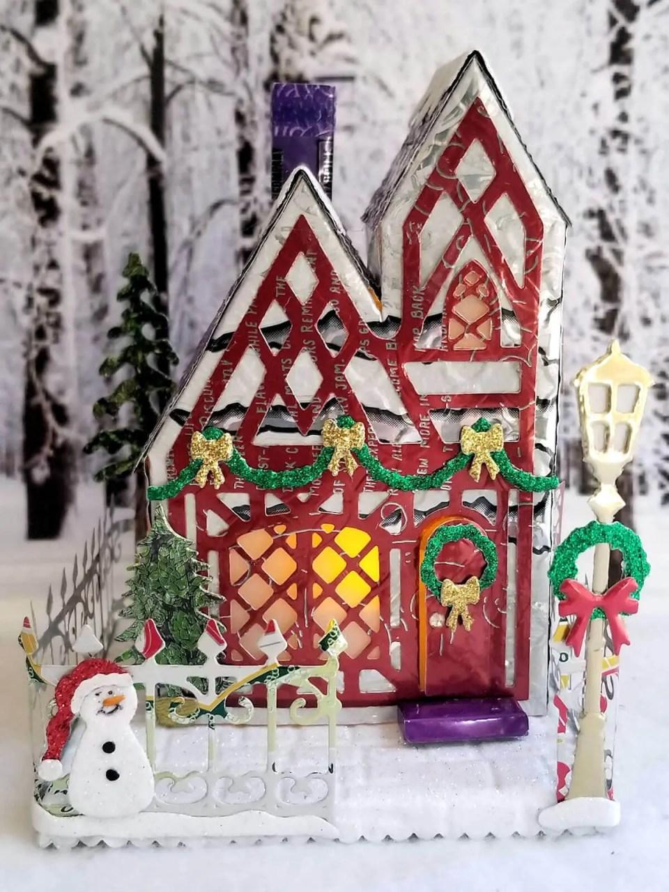 Winter Tudor Cottage #1 aluminum can house